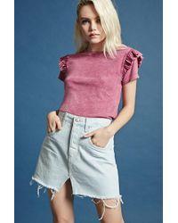 Forever 21 - Asymmetrical-hem Denim Skirt - Lyst