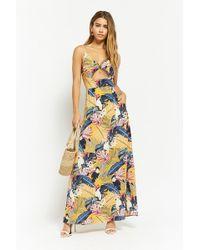 Forever 21 - Women's Nature Print Cutout Maxi Dress - Lyst