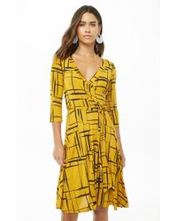 Forever 21 - Geo Print Fit & Flare Dress - Lyst