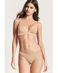 Forever 21 - Metallic Knit Thong - Lyst
