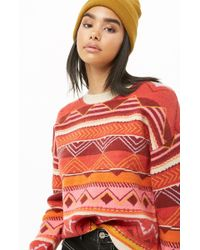 Forever 21 - Colorful Geo Print Sweater - Lyst