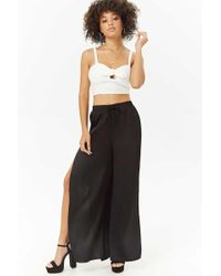 Forever 21 - Women's Vented Palazzo Trousers - Lyst