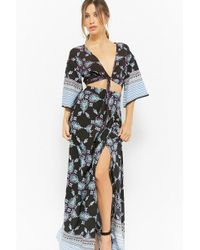 Forever 21 - Ornate Mock-wrap Maxi Skirt - Lyst