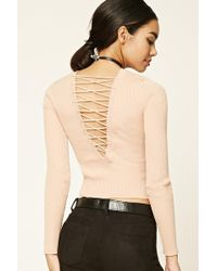 Forever 21 - Women's Crisscross-back Jumper Sweater - Lyst