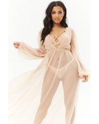 Forever 21 - Kikiriki Sheer Maxi Dress - Lyst