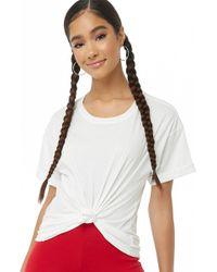 Forever 21 - Women's Cuffed Short Sleeve Tee Shirt - Lyst