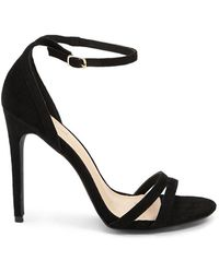 Forever 21 - Strappy Faux Suede Stilettos - Lyst
