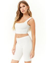 Forever 21 - Perforated Crop Top & Shorts Set - Lyst