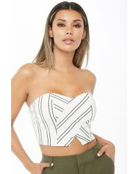 7a9d858e15 Forever 21 - Sweetheart Cropped Tube Top - Lyst