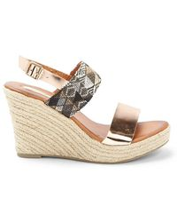 Forever 21 - Metallic-trim Espadrille Wedges - Lyst