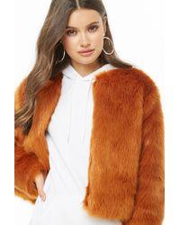 9d3c04e0735 Forever 21 Plus Size Faux Fur Coat in Black - Lyst