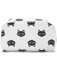 Forever 21 - Faux Leather Cat Graphic Makeup Bag - Lyst
