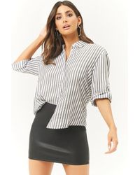 Forever 21 - Faux Leather Mini Skirt - Lyst