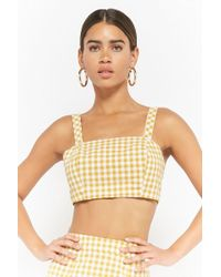 Forever 21 - Gingham Crop Cami - Lyst