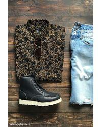 Forever 21 - Cotton-blend Filigree Shirt - Lyst