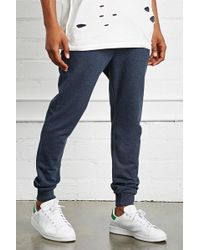 Forever 21 - Drawstring Heathered Joggers - Lyst