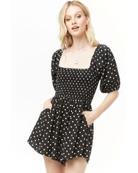 aea624e9d80 Lyst - Forever 21 Plus Size Floral Romper in Black