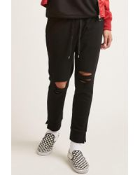 Forever 21 | Vented Fleece Sweatpants | Lyst