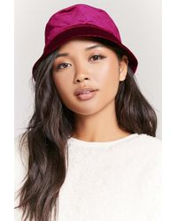 482bcccf38b04 Forever 21 Faux Leather Beret in Red - Lyst
