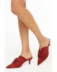 Forever 21 - Pointed Toe Bow Mules - Lyst