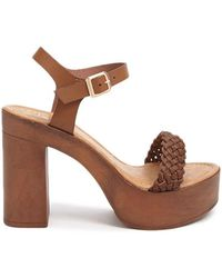 Forever 21 - Faux Leather Ankle Strap Heels - Lyst