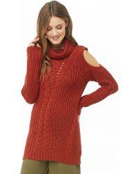 Forever 21 - Open-shoulder Turtleneck Sweater - Lyst