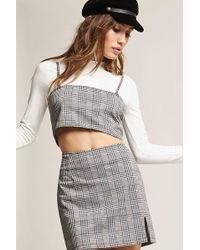 Forever 21 - Motel Glen Plaid Crop Top - Lyst