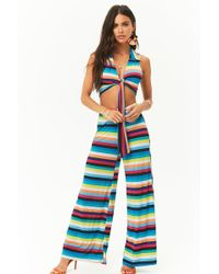 Forever 21 - Striped Crop Top & Pant Set - Lyst