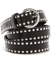 Forever 21 - Studded Faux Leather Waist Belt - Lyst