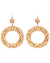 410b42d6e Forever 21 Women's Wicker Hoop Earrings in Metallic - Lyst