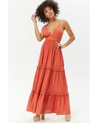 Forever 21 - Crochet Panelled Maxi Dress - Lyst