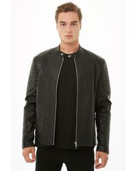 Forever 21 - 's Ribbed Faux Leather Jacket - Lyst