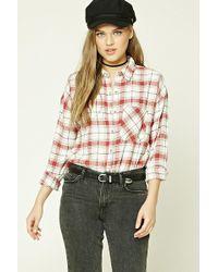 Forever 21 - Tartan Plaid Flannel Shirt - Lyst