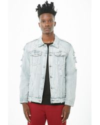 Forever 21 - Victorious Distressed Denim Jacket - Lyst