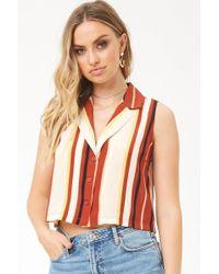 Forever 21 - Striped Sleeveless Shirt - Lyst
