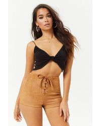 Forever 21 - Women's Faux Suede Shorts - Lyst