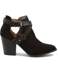Forever 21 - Strappy Faux Suede Booties - Lyst