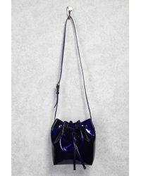 Forever 21 - Faux Patent Leather Bucket Bag - Lyst