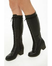 Forever 21 - Madden Girl Knee-high Combat Boots - Lyst