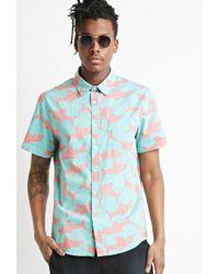 Forever 21 - Reverse Shark Print Shirt - Lyst