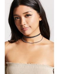 Forever 21 - Studded Faux Suede Choker - Lyst