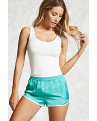 Forever 21 | Contrast Trim Satin Pj Shorts | Lyst
