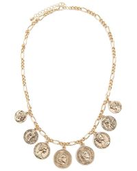 Forever 21 - Figaro Chain Coin Necklace - Lyst