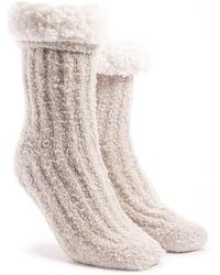 Forever 21 - Fuzzy Faux Shearling Crew Socks - Lyst
