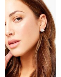 Forever 21 - Floral Cz Stud Earrings - Lyst