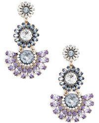 Forever 21 - Women's Floral Faux Gem Drop Earrings - Lyst