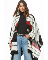 Forever 21 - Women's Striped Handkerchief-hem Poncho - Lyst