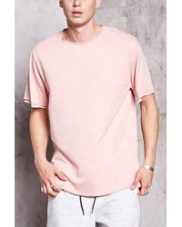 Forever 21 - Double-layered Raw-cut Tee - Lyst