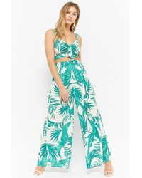 Forever 21 - Foliage Print Palazzo Pants - Lyst