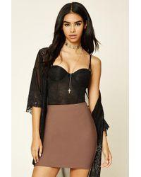 597aeab0fd08 Forever 21 - Women's Ribbed Knit Mini Skirt - Lyst